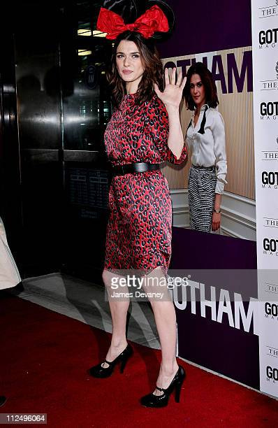 Rachel Weisz during Rachel Weisz Hosts Gotham Magazines Halloween Costume Ball at The Grand in New York City New York United States