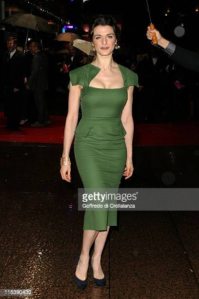 Rachel Weisz during The Times BFI 49th London Film Festival 'The Constant Gardener' Premiere at The Odeon Leicester Square in London Great Britain