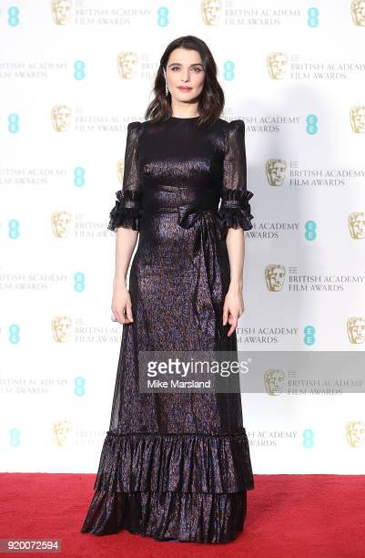 Rachel Weisz in the press room during the EE British Academy Film Awards held at Royal Albert Hall on February 18 2018 in London England