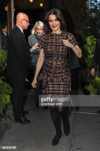 Rachel Weisz is seen on October 17 2017 in New York City
