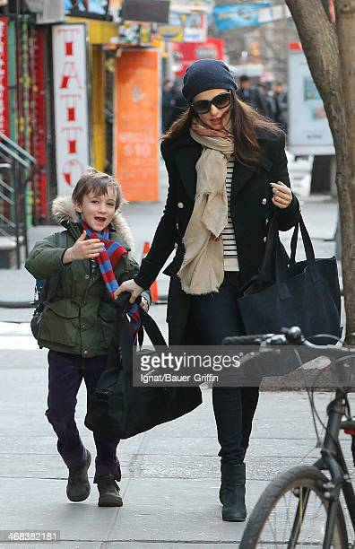 Rachel Weisz is seen taking her her son Henry Aronofsky to school on March 15 2013 in New York City
