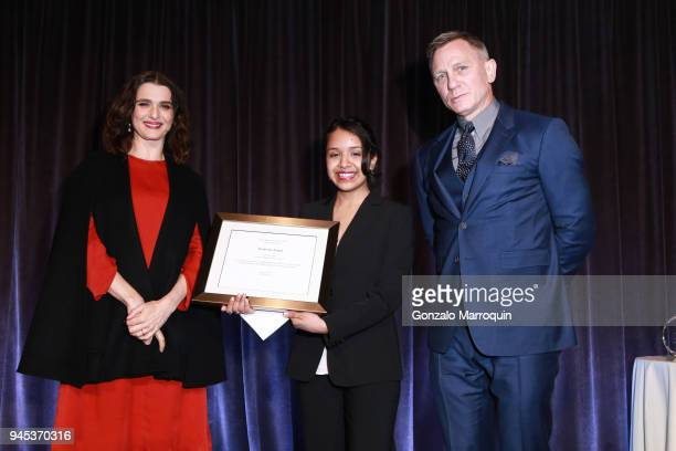 Rachel Weisz Kim and Daniel Craig attend The Opportunity Network's 11th Annual Night of Opportunity Gala at Cipriani Wall Street on April 9 2018 in...