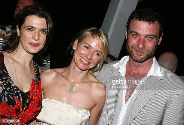 Rachel Weisz Naomi Watts and Liev Schreiber during Opening Night Afterparty for Macbeth at The Belvedere Castle in Central Park at The Belvedere...