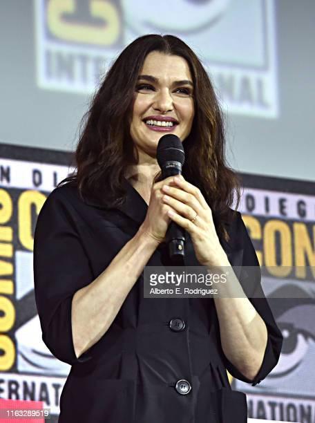 Rachel Weisz of Marvel Studios' 'Black Widow' at the San Diego ComicCon International 2019 Marvel Studios Panel in Hall H on July 20 2019 in San...