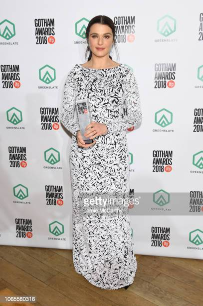 Rachel Weisz poses backstage durinig IFP's 28th Annual Gotham Independent Film Awards at Cipriani Wall Street on November 26 2018 in New York City