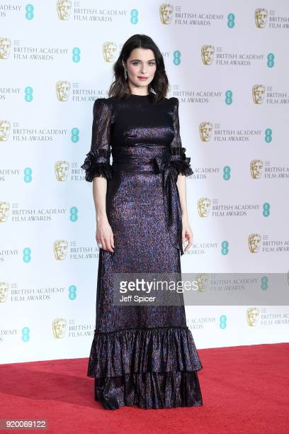 Rachel Weisz poses in the press room during the EE British Academy Film Awards held at Royal Albert Hall on February 18 2018 in London England