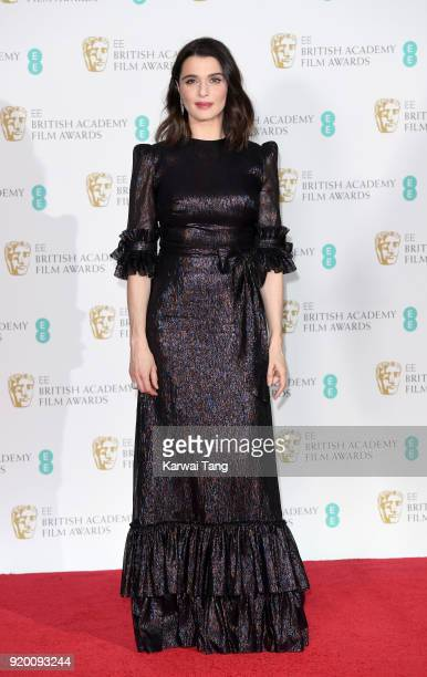 Rachel Weisz poses in the press room during the EE British Academy Film Awards held at the Royal Albert Hall on February 18 2018 in London England