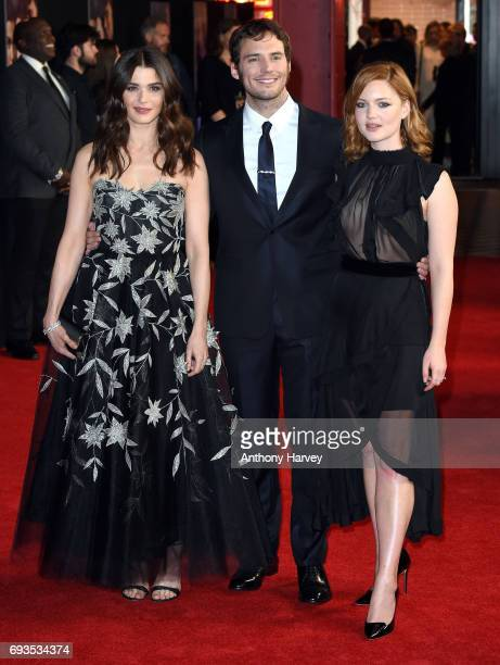 Rachel Weisz Sam Claflin and Holliday Grainger attend the World Premiere of My Cousin Rachel at Picturehouse Central on June 7 2017 in London England