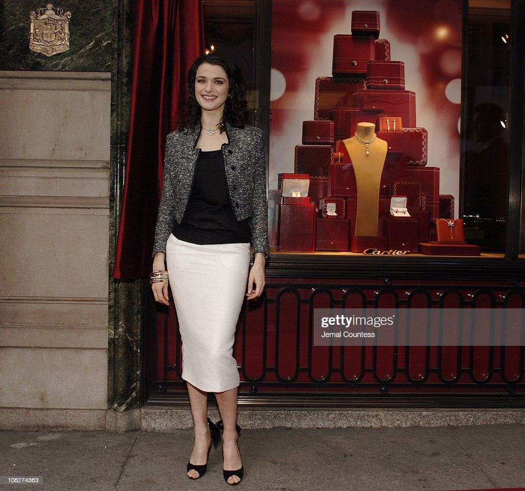 Rachel Weisz with the Cartier Holiday Window Display