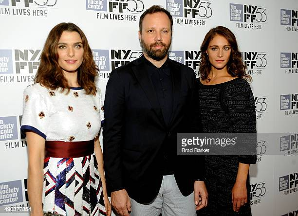 Rachel Weisz Yorgos Lanthimos and Ariane Labed attend the 53rd New York Film Festival The Martian Premiere Arrivals at Alice Tully Hall on September...