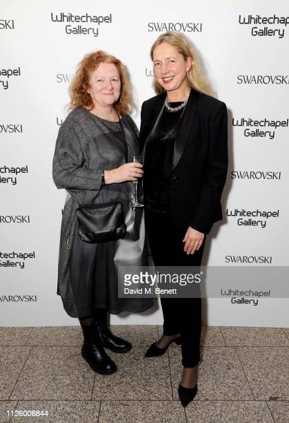 Rachel Whiteread and Iwona Blazwick attend a glamorous gala dinner at Whitechapel Gallery as Rachel Whiteread is celebrated as the recipient of the...