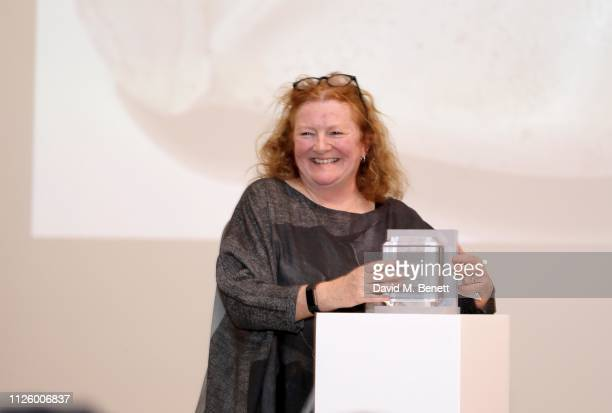 Rachel Whiteread is celebrated as the recipient of the Whitechapel Gallery Art Icon Award with Swarovski at Whitechapel Gallery on January 29 2019 in...