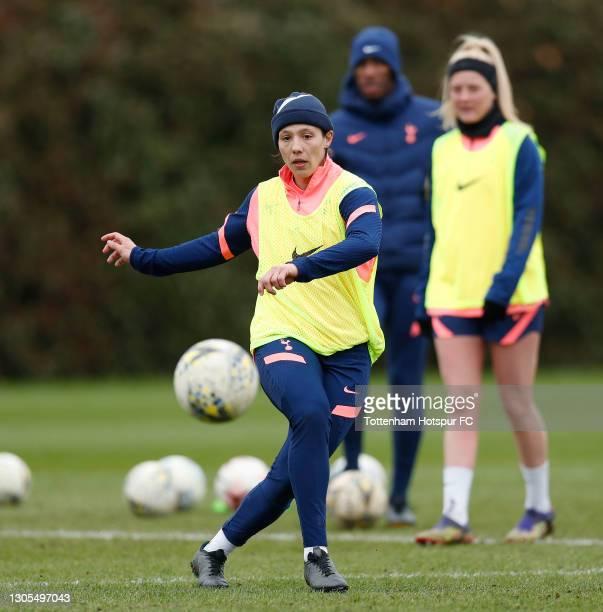 Rachel Williams of Tottenham Hotspur Women during the Tottenham Hotspur Women training session at Tottenham Hotspur Training Centre on March 05, 2021...
