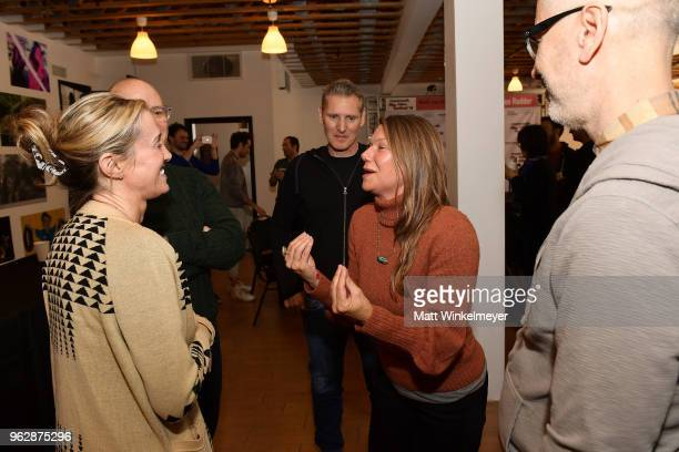 Rachel Winter David Zellner Peter Baxter and Devin DiGonno attend the 2018 Mammoth Lakes Film Festival on May 26 2018 in Mammoth Lakes California