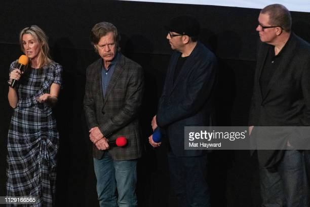 Rachel Winter, William H. Macy, Bradley Jay Kaplan and Sean Lydiard speak during a Q&A hosted by TheFilmSchool after a screening of the film...