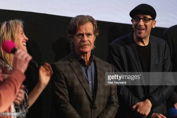 """Rachel Winter, William H. Macy, Bradley Jay Kaplan speak during a Q&A hosted by TheFilmSchool after a screening of the film """"Stealing Cars"""" at SIFF..."""