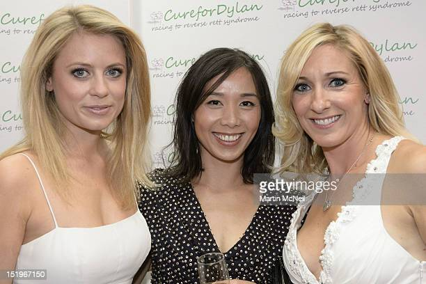 Rachel Wyse Vicky Gomersall and guest attend a charity evening in aid of 'Cure for Dylan' at Stamford Bridge on September 13 2012 in London England