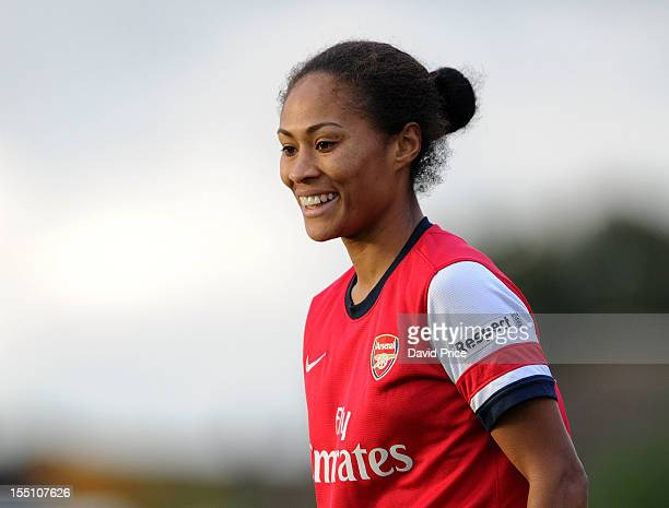 Rachel Yankey of Arsenal Ladies during the match Arsenal Ladies v FFC Turbine Potsdam on November 1 2012 in Borehamwood England