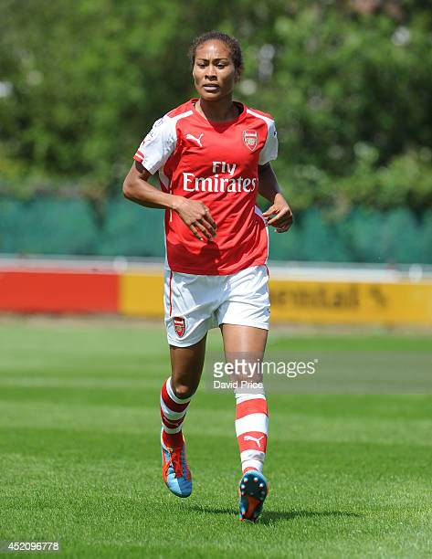 Rachel Yankey of Arsenal Ladies during the match between Millwall Lionessess and Arsenal Ladies in the Womens Continental League Cup on July 13 2014...