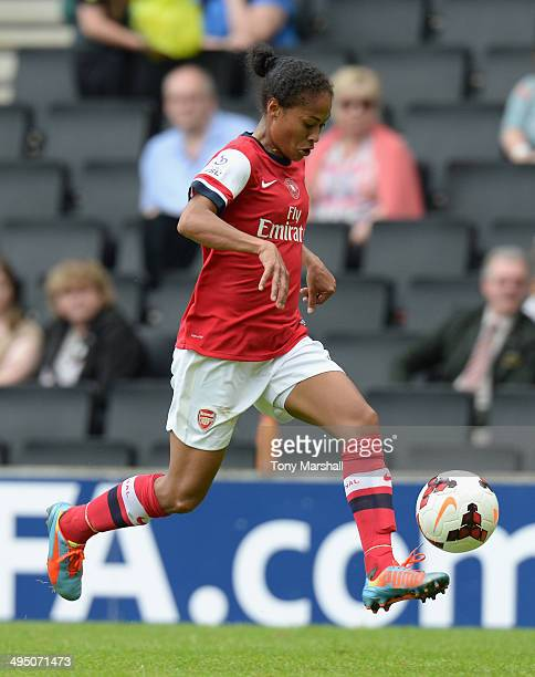 Rachel Yankey of Arsenal Ladies in action during the FA Women's Cup Final match between Everton Ladies and Arsenal Ladies at Stadium mk on June 1...