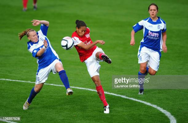 Rachel Yankey of Arsenal Ladies scores a spectacular fourth goal during the FA WSL Continental Cup Final between Birmingham City Ladies FC v Arsenal...