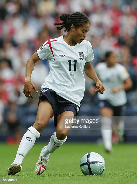 Rachel Yankey of England during UEFA Women's Europen Championship Group Phase Group A match between England and Sweden at Ewood Park on June 11 2005...