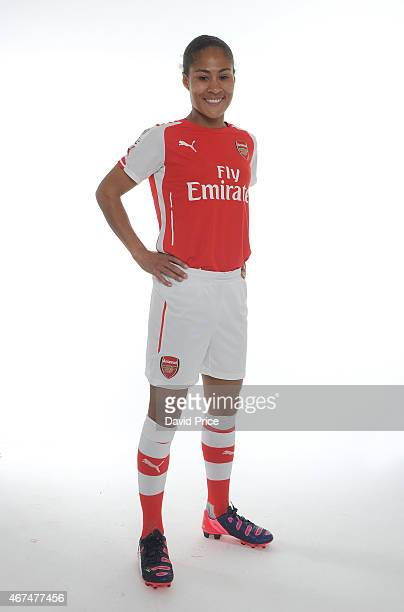 Rachel Yankey of the Arsenal Ladies at London Colney on March 24 2015 in St Albans England