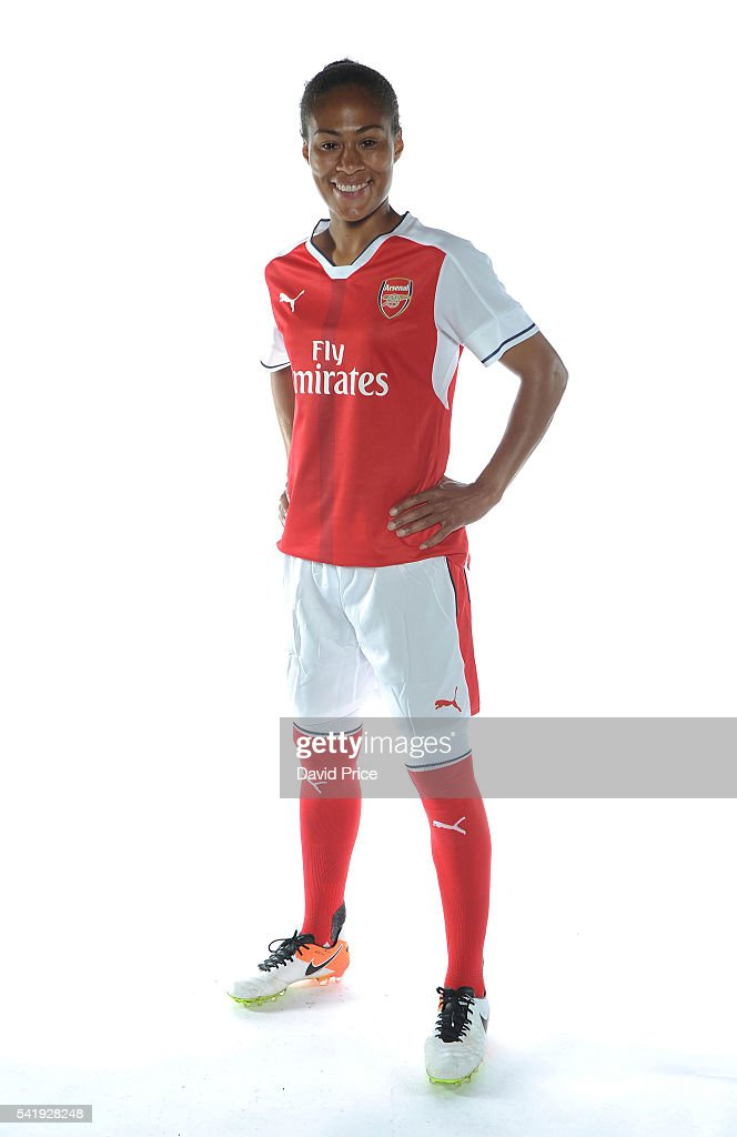 Rachel Yankey of the Arsenal Ladies during their photocall at London Colney on June 16, 2016 in St Albans, England.