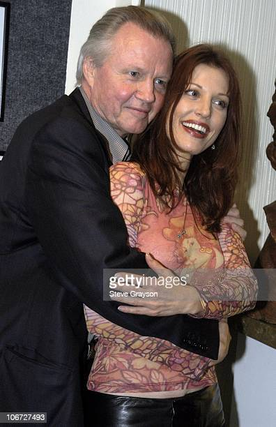 Rachel York and Jon Voight during Renee Taylor's OneWoman Stage Portrait An Evening With Golda Meir Premiere Engagement at The Canon Theater in...