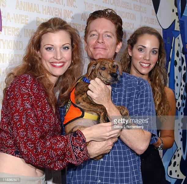 Rachel York Eric Stoltz and Elizabeth Berkley during Broadway Barks 6 A StarStudded Dog And Cat AdoptAThon at Shubert Alley in New York City New York...
