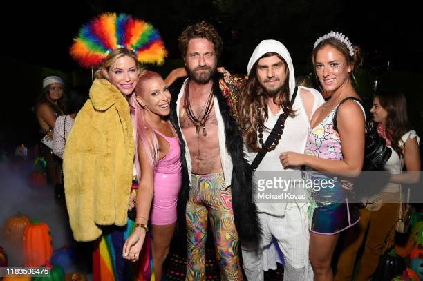 Rachel Zalis Gerard Butler and guests attend the 2019 Casamigos Halloween Party on October 25 2019 at a private residence in Beverly Hills California