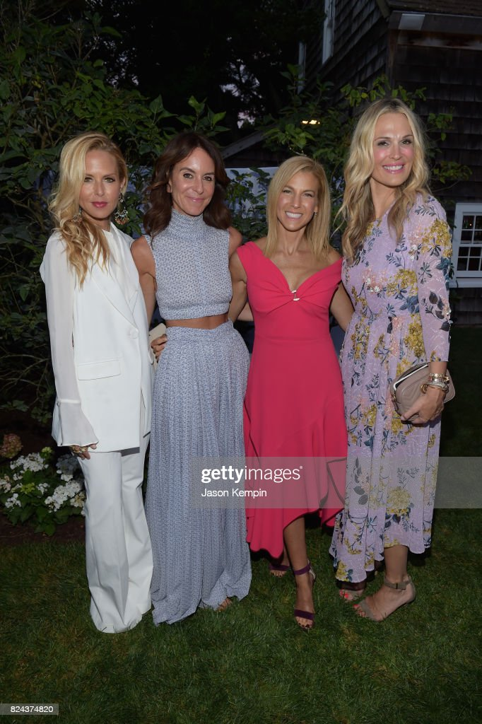 Rachel Zoe, Alison Loehnis, Jessica Seinfeld and Molly Sims attend The GOOD+ Foundation's Hamptons Summer Dinner co-hosted by NET-A-PORTER on July 29, 2017 in East Hampton, New York.