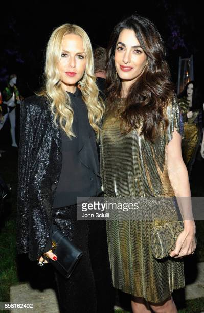 Rachel Zoe and Amal Clooney at Farfetch and William Vintage Celebrate Gianni Versace Archive hosted by Elizabeth Stewart and William BanksBlaney on...