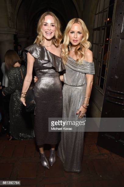 Rachel Zoe and Anine Bing at Rachel Zoe's Box of Style Holiday Supper at Chateau Marmont on November 28 2017 in Los Angeles California