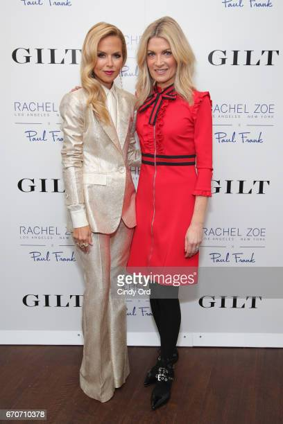 Rachel Zoe and Brooke Cundiff VP of Relations/Fashion Director of GILT Saks OFF 5th attend the launch of an exclusive children's collection hosted by...