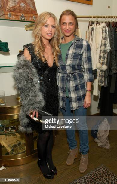 Rachel Zoe and Charlotte Ronson during What Comes Around Goes Around Vintage Rock TShirt Book Launch Party and Exhibition February 6 2007 at What...