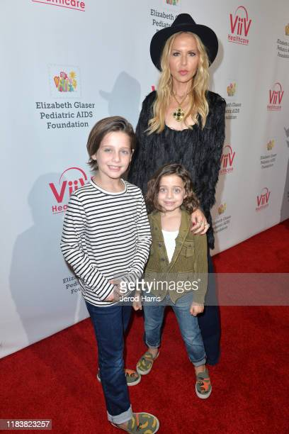 Rachel Zoe and family attend the Elizabeth Glaser Pediatric AIDS Foundation's 30th Annual A Time for Heroes Family Festival at Smashbox Studios on...