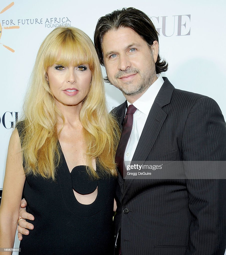 Rachel Zoe and husband Rodger Berman arrive at the Dream For Future Africa Foundation Gala at Spago on October 24, 2013 in Beverly Hills, California.