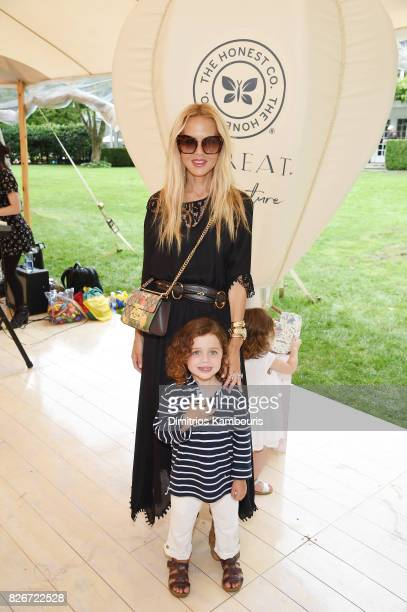 Rachel Zoe and Kaius Jagger Berman attend as the Honest Company and The GREAT celebrate The GREAT Adventure on August 5 2017 in East Hampton New York
