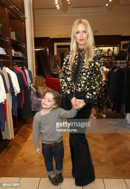 Rachel Zoe and Kaius Jagger Berman attend the Brooks Brothers holiday celebration with St Jude Children's Research Hospital at Brooks Brothers Rodeo...