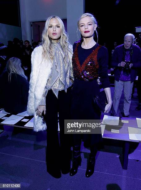 Rachel Zoe and Kate Bosworth attend Altuzarra show during the Fall 2016 New York Fashion Week on February 13 2016 in New York City