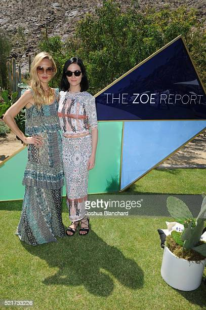 Rachel Zoe and Leigh Lezark arrive at ZOEasis presented by The Zoe Report and Guess on April 16 2016 in Palm Springs California