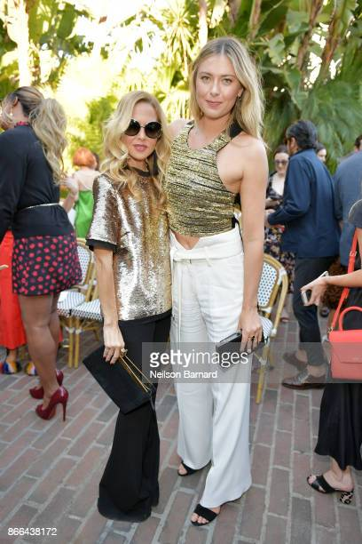 Rachel Zoe and Maria Sharapova attend CFDA/Vogue Fashion Fund Show and Tea at Chateau Marmont at Chateau Marmont on October 25 2017 in Los Angeles...