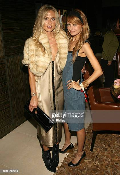 Rachel Zoe and Nicole Richie during Charlotte Ronson Cocktail Party at Private Home in Hollywood Hills CA United States