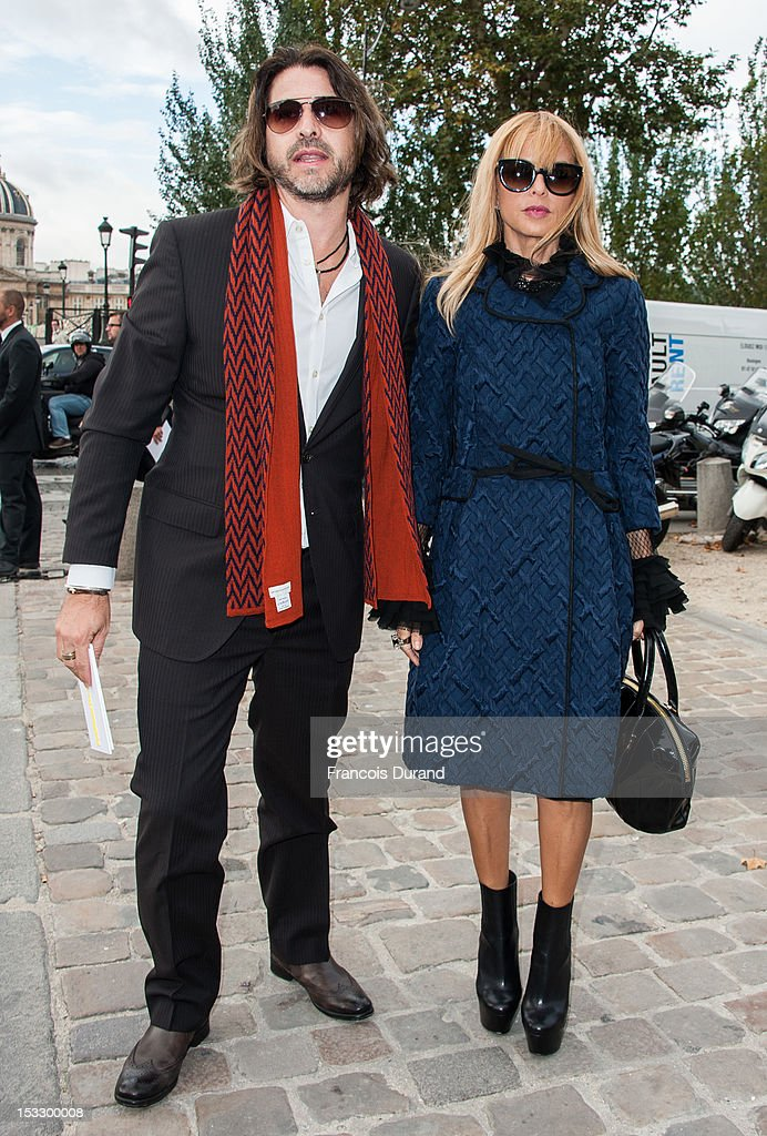 Rachel Zoe (R) and Rodger Berman arrive at the Louis Vuitton Spring/Summer 2013 show as part of Paris Fashion Week on October 3, 2012 in Paris, France.