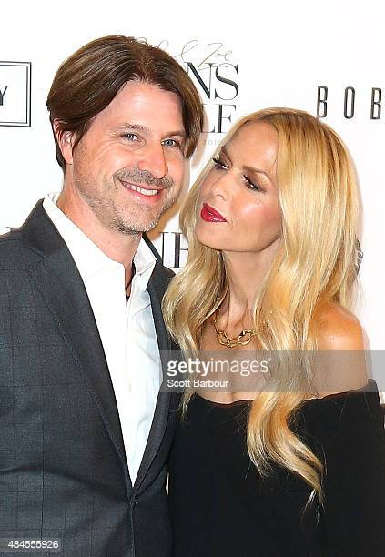 Rachel Zoe and Rodger Berman arrive to attend the 'Icons of Style' campaign launch at Chadstone Shopping Centre on August 20 2015 in Melbourne...