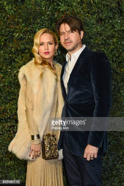 Rachel Zoe and Rodger Berman attend Charles Finch and CHANEL PreOscar Awards Dinner at Madeo Restaurant on February 25 2017 in Los Angeles California