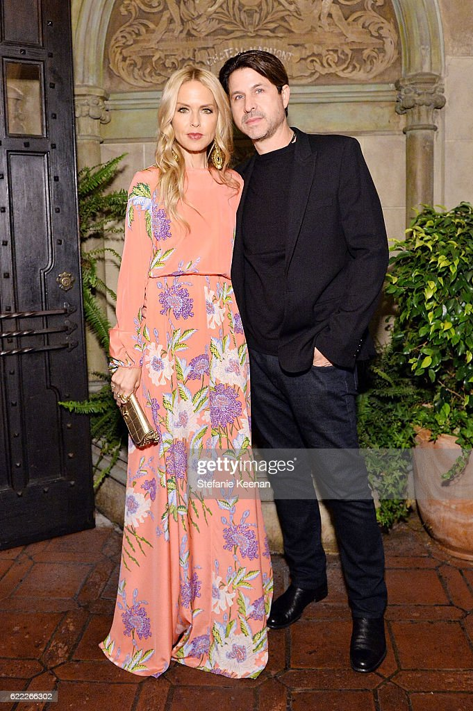 Rachel Zoe (L) and Rodger Berman attend Lisa Love Hosts Dinner For Jonathan Saunders, New Chief Creative Officer Of Diane Von Furstenberg at Chateau Marmont on November 10, 2016 in Los Angeles, California.