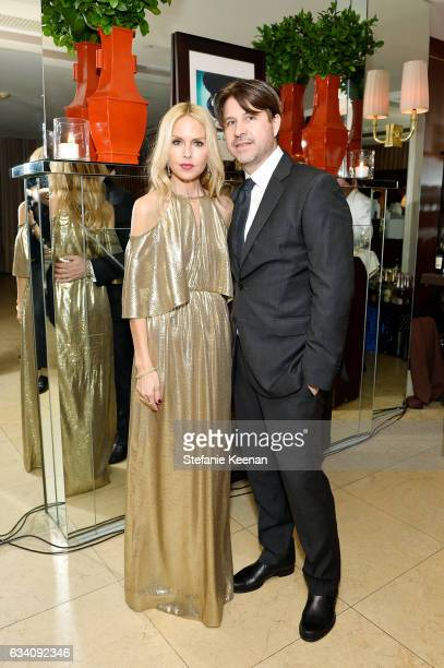 Rachel Zoe and Rodger Berman attend Rachel Zoe's Los Angeles Presentation at Sunset Tower Hotel on February 6 2017 in West Hollywood California