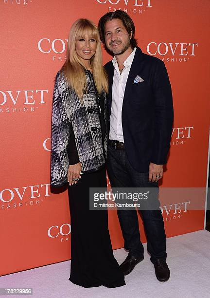 Rachel Zoe and Rodger Berman attend the COVET Fashion Launch Event at 82 Mercer on August 27 2013 in New York City